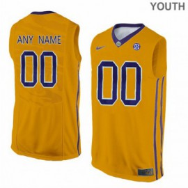 Youth LSU Tigers 3 Elbert Robinson III Elite Yellow Basketball Jersey